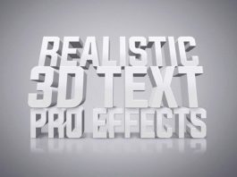Free White 3D Text Effect (PSD)