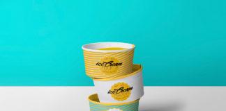 Free Yummy Ice Cream Cup Mockup