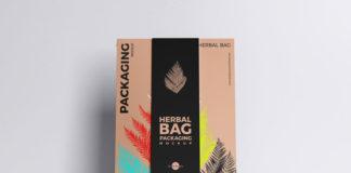 Herbal Bag Packaging Mockup