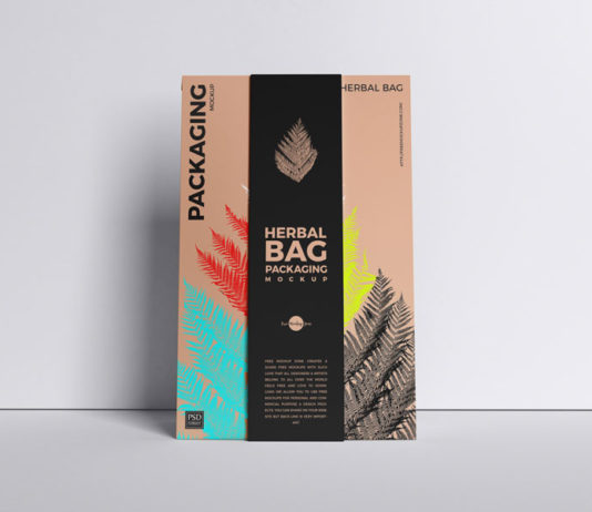 Herbal Bag Packaging Mockup