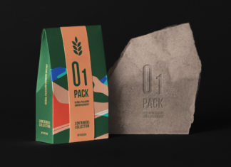 Herbal Psd Bag Packaging Mockup 3 Title