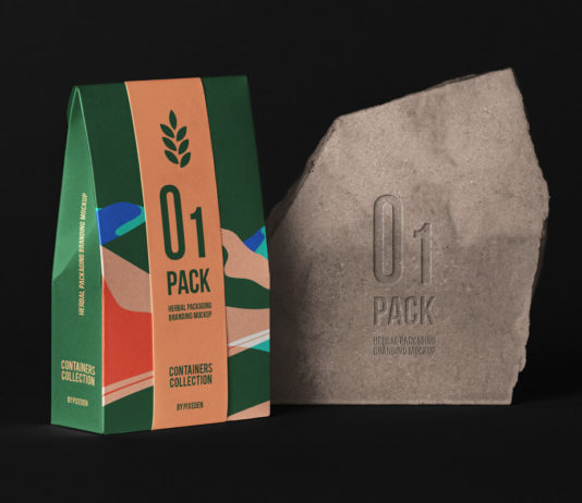 Herbal Psd Bag Packaging Mockup 3 Title
