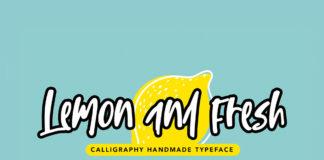 Lemon and Fresh Handmade Font
