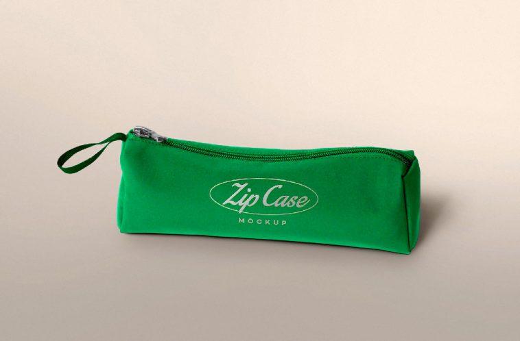 Free Pencil Bag Mockup PSD Template