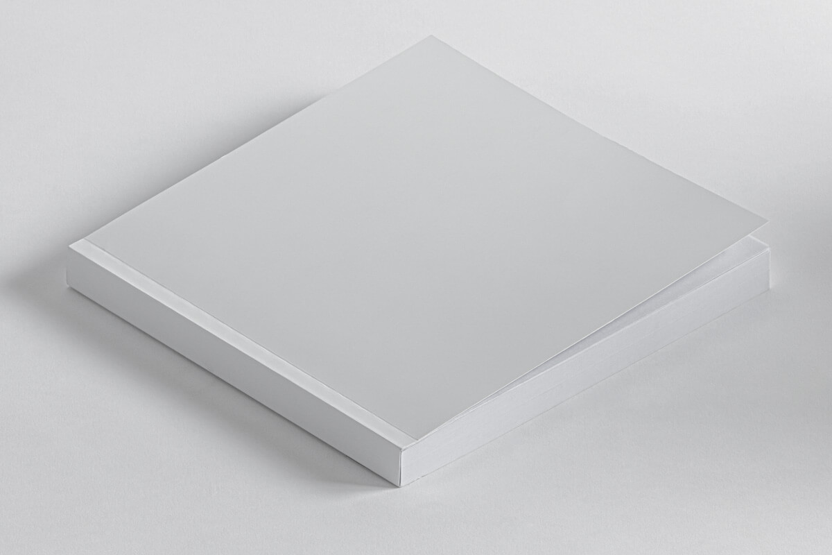Free Top View Square Book Mockup PSD Template