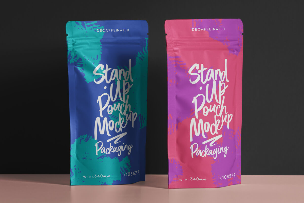 Free Beautiful Pouch Packaging Mockup Set