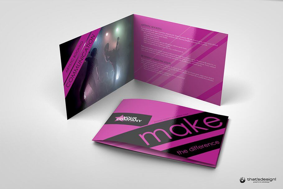 8Pages Event and Artistic Brochure