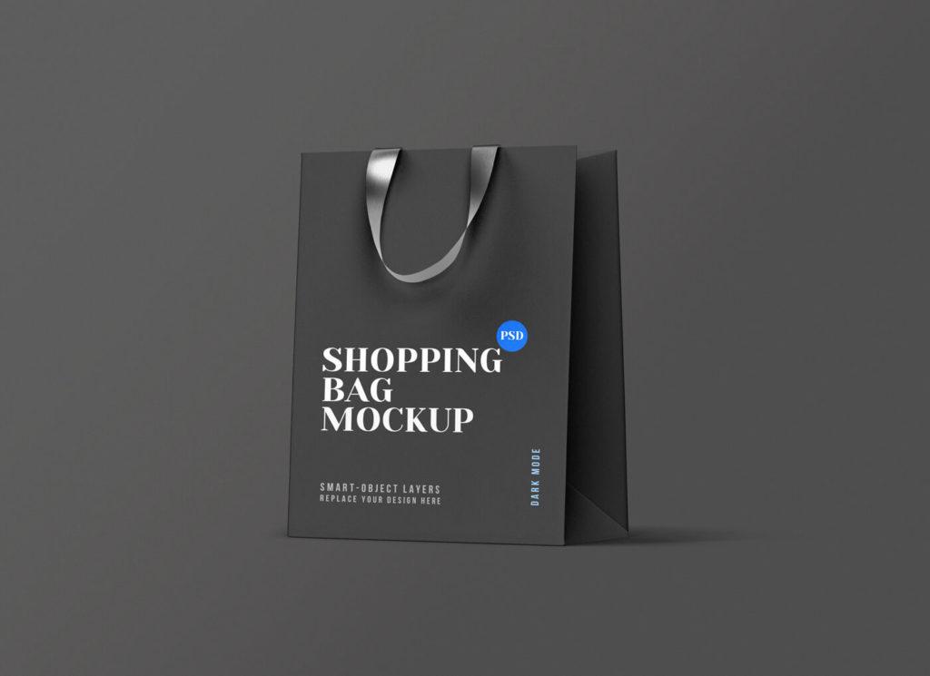 A beautiful Shopping-Bag-Mockup-Dark