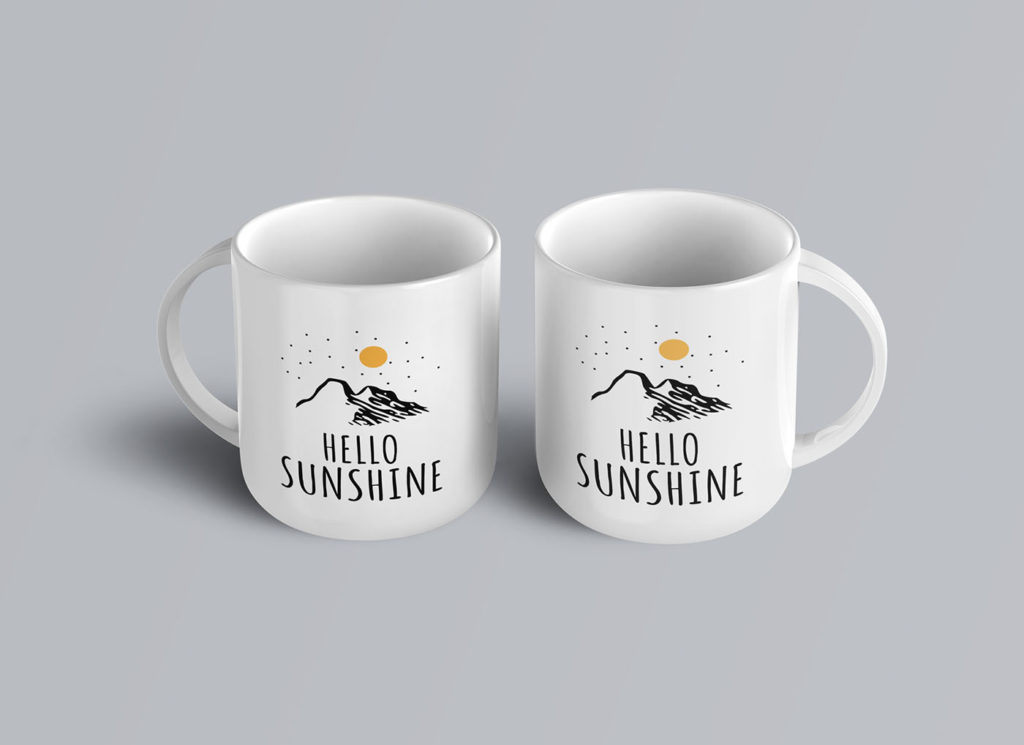 A set of Coffee-Mug-Mockup