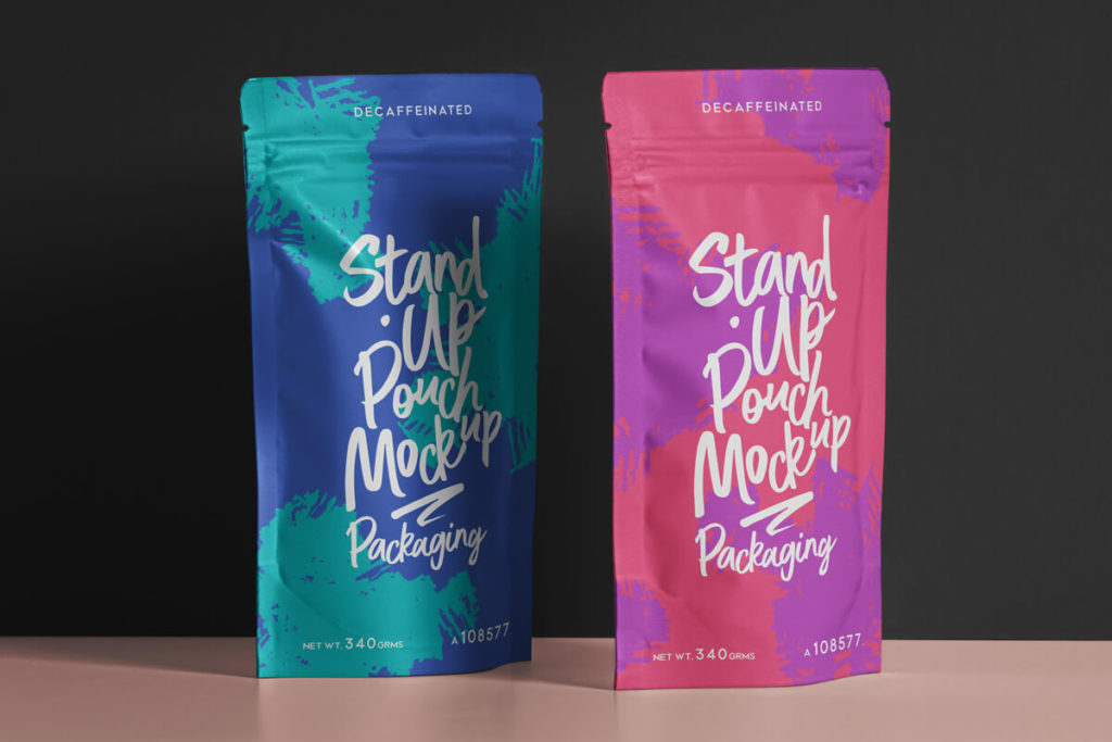 Free Pouch Packaging Mockup Set PSD Template