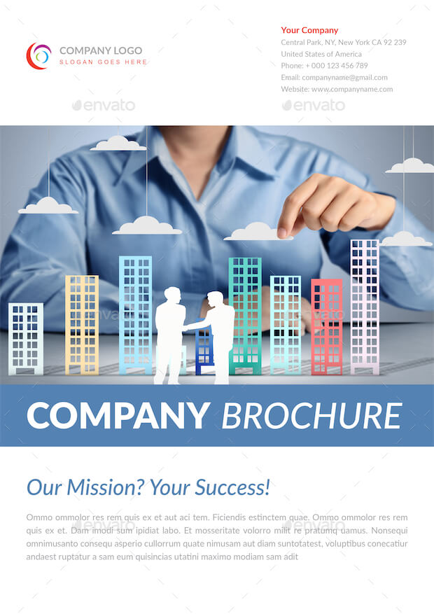 A4 Company Brochure Template vol.6