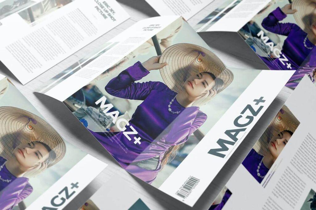 A4 Z-Fold Brochure Mockups