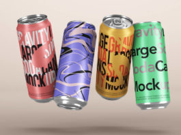 Amazing gravity-soda-can-large-silver-set-branding-graphic-psd-mockup