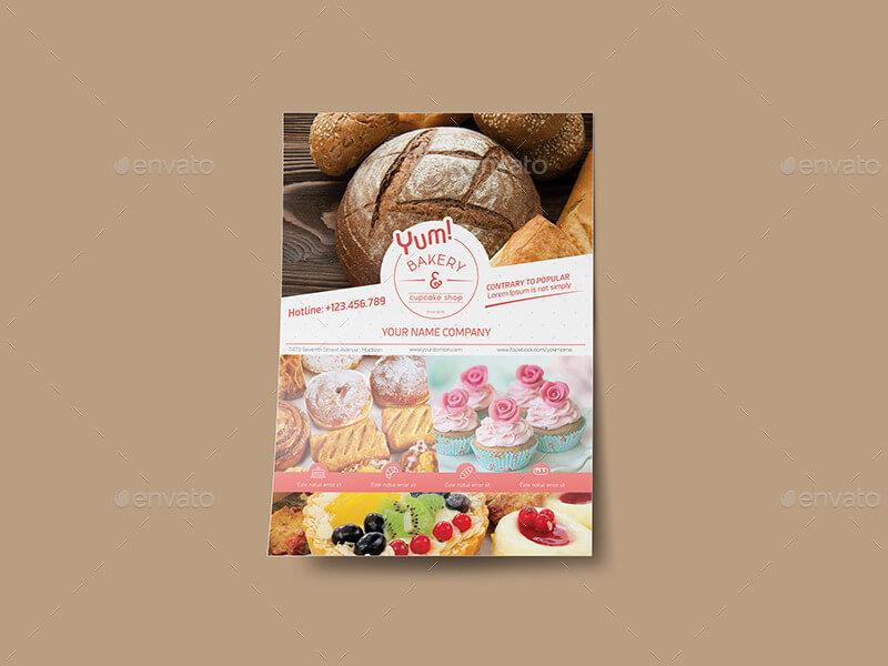Bakery & Cupcake Shop - Flyer Template (1)