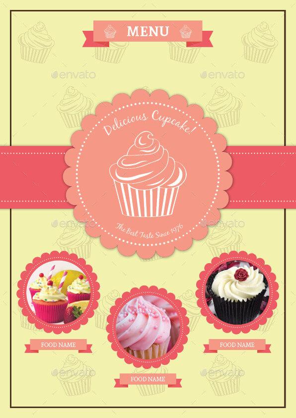 BiFold Cupcake Menu Template Vol. 2