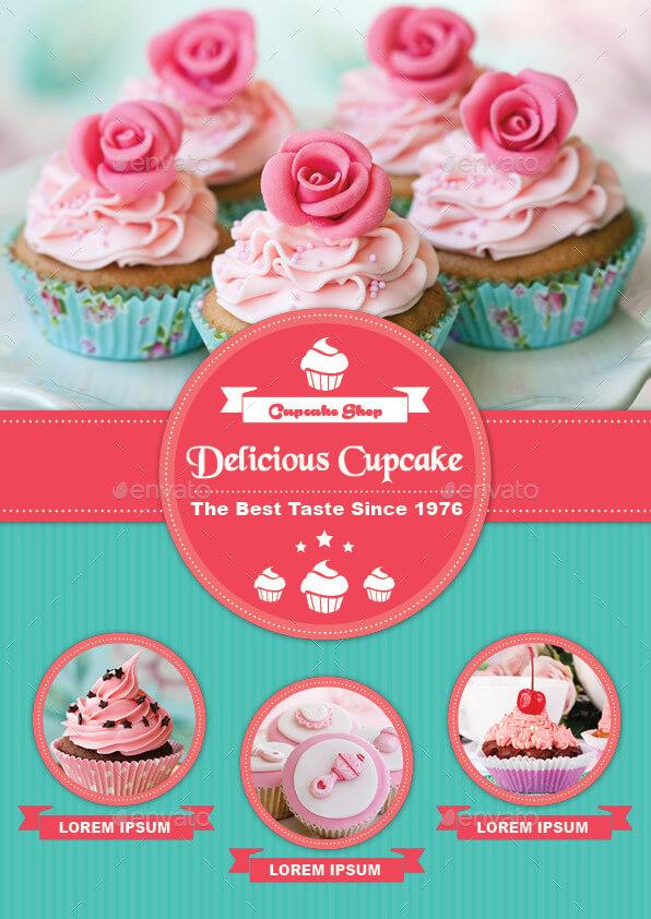 BiFold Cupcake Menu Template