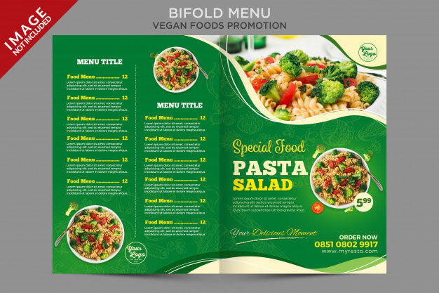Bifold menu brochure flyer template Premium Psd (1)