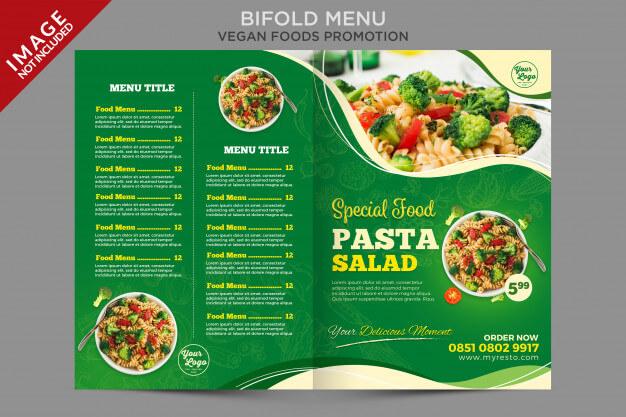 Bifold menu brochure flyer template Premium Psd (2)