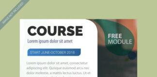 Brochure template for course Premium Vector