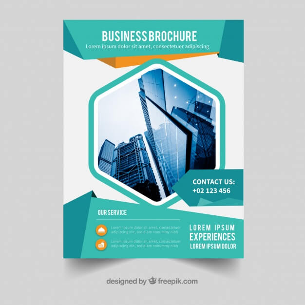 Business brochure in a5 size with flat style Premium Vector