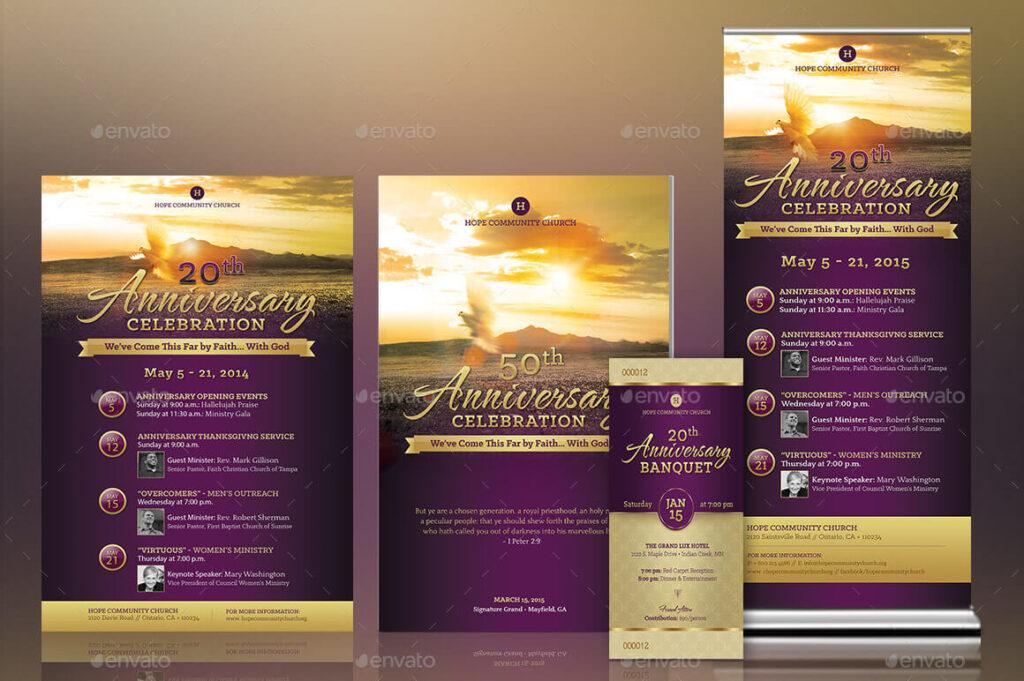 Church Anniversary Template Kit