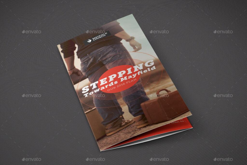 Church Missions Tri-Fold Brochure Template
