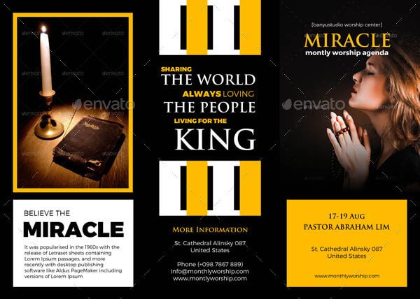 Church Trifold Brochures