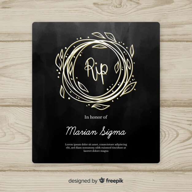 Classic funeral brochure with elegant style Free Vector (1)