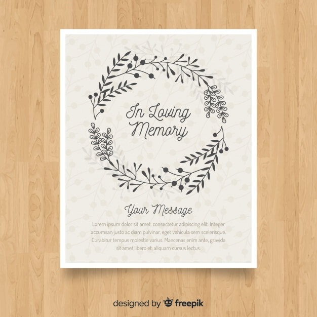 Classic funeral brochure with elegant style Free Vector (2)