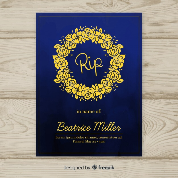 Classic funeral brochure with elegant style Free Vector (3)