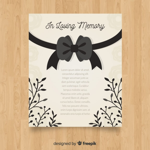 Classic funeral brochure with elegant style Free Vector (4)