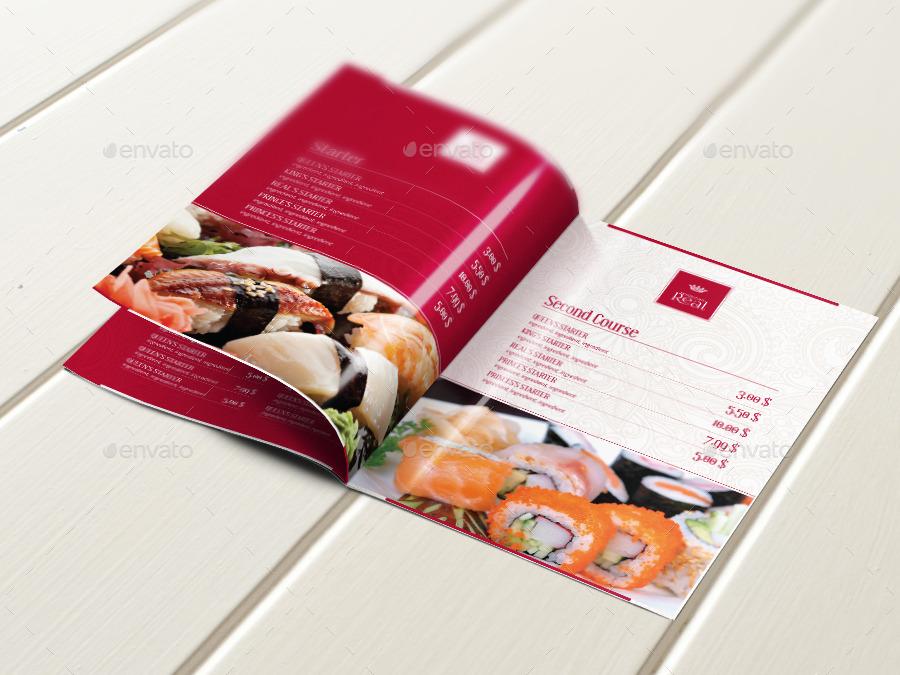 Classy Food Restaurant Menu Brochure Template