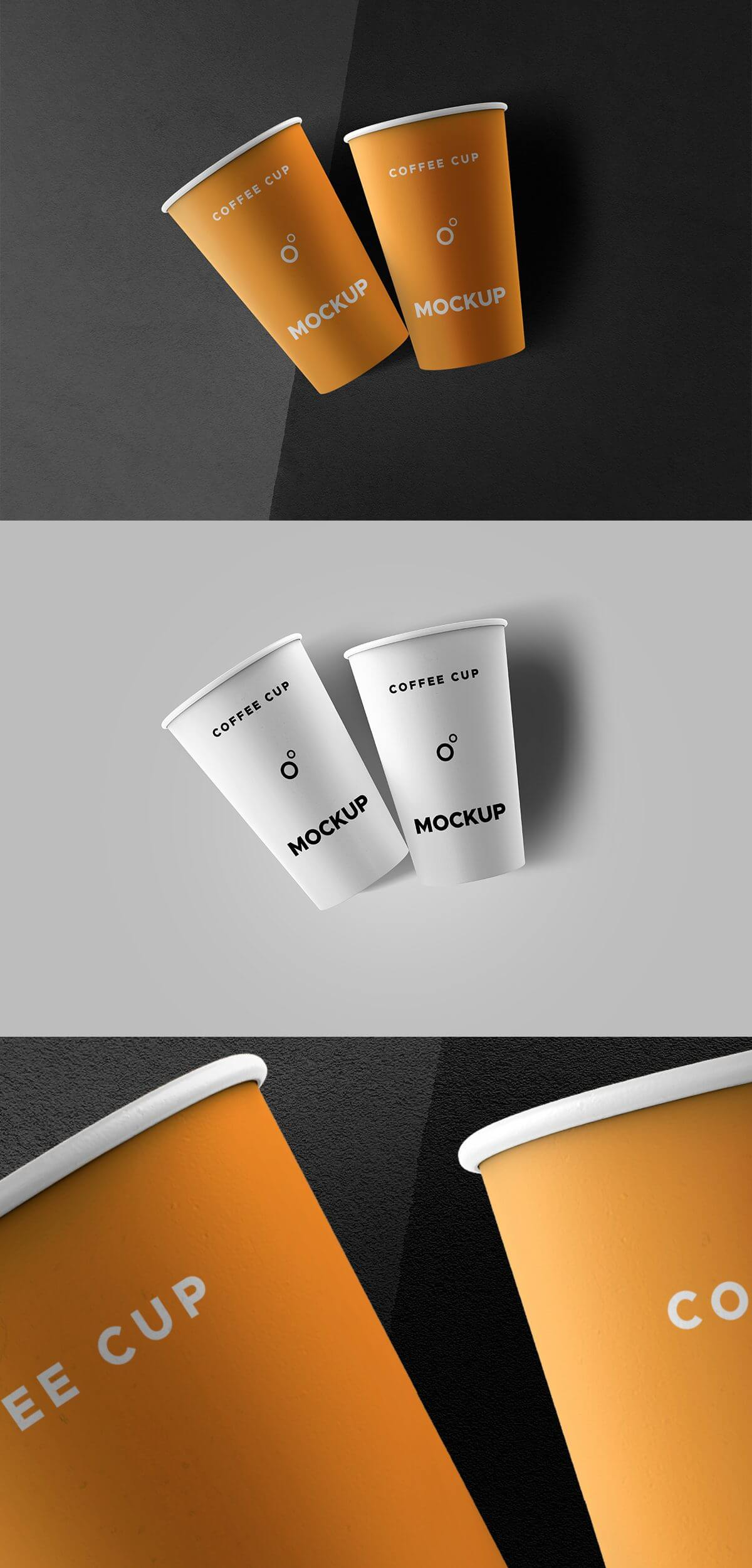 Free Classic Coffee Cups Mockup Template