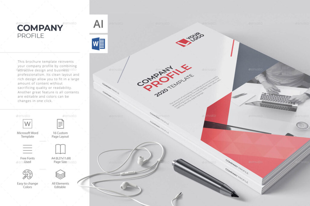 Company Brochure, Word Template