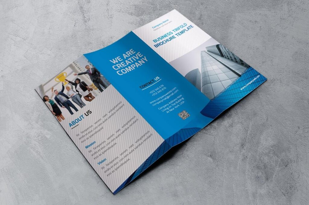 Company Trifold Brochure Template