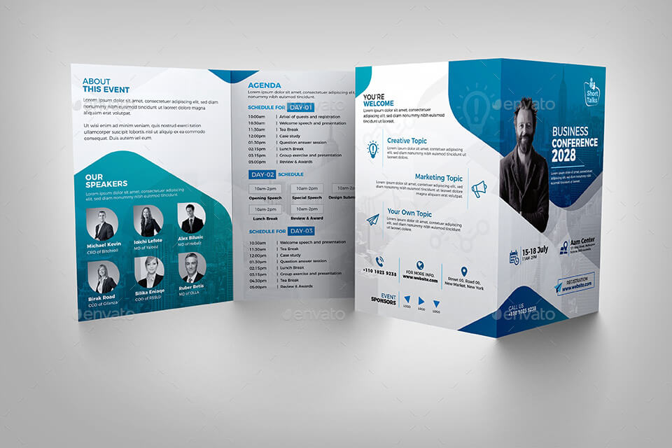 Conference Bifold Brochure Template (1)