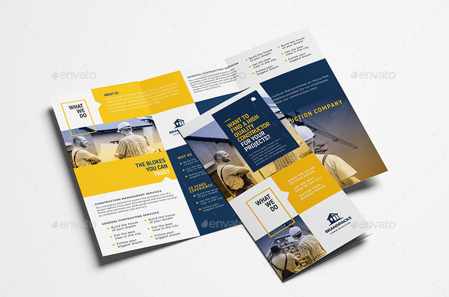 Construction Tri-Fold Brochure Template (1)