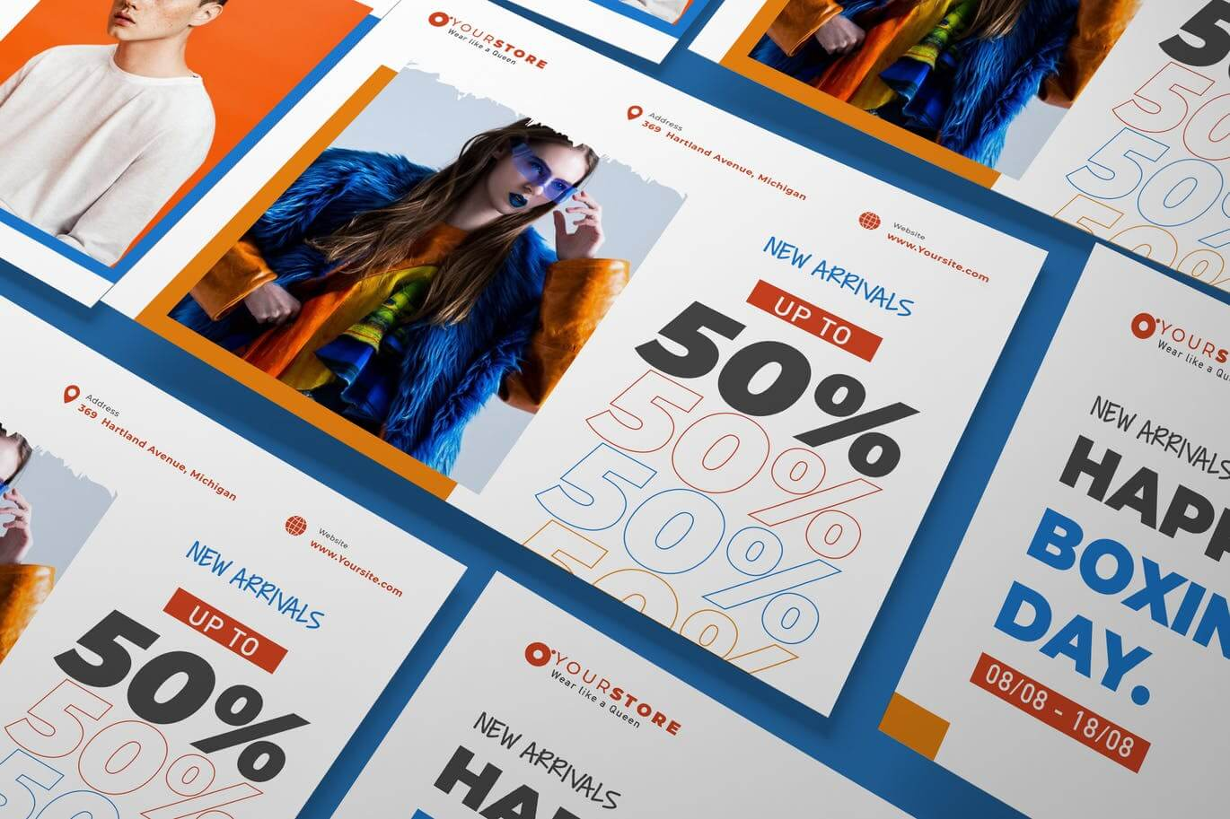 Creative Fashion Sale A5 Business Flyer Template (1)