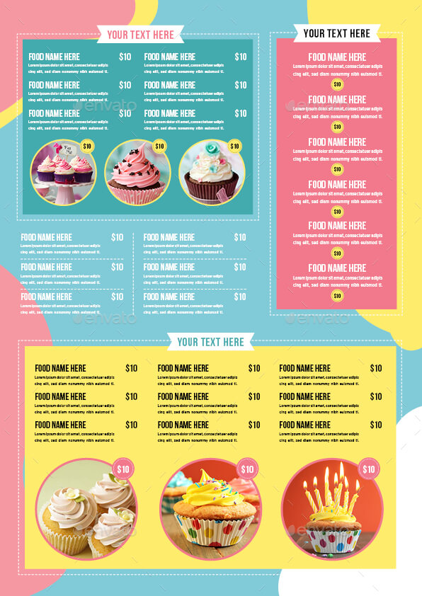 Cupcake Flyer Template Vol. 6