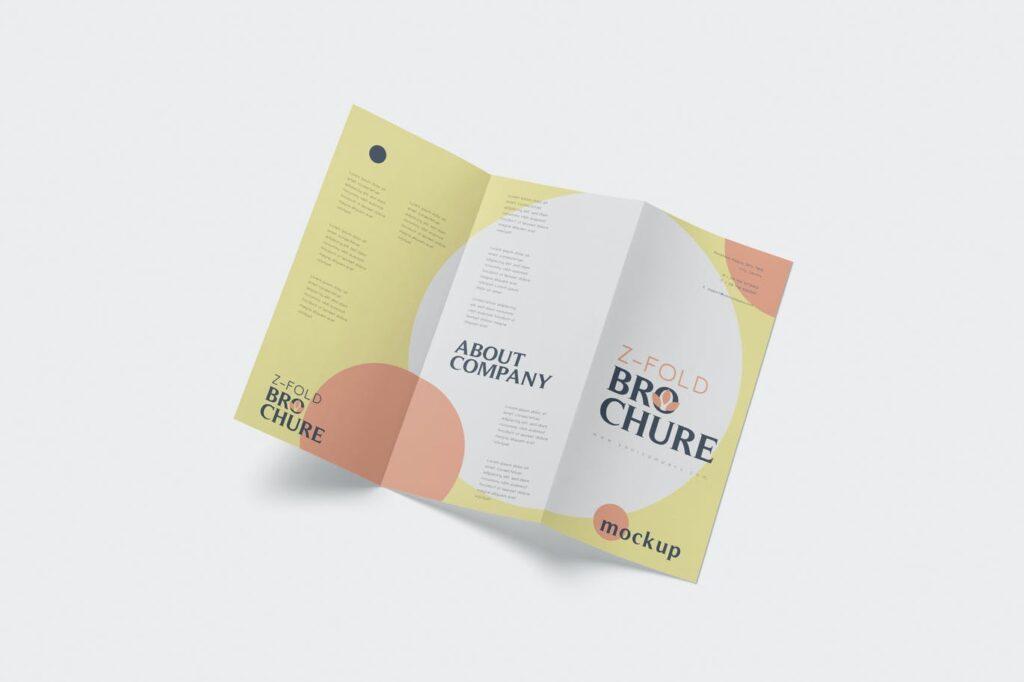 DL Z-Fold Brochure Mockup - 99 x 210 mm Size