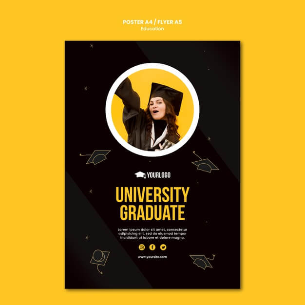 Education concept flyer template Free Psd (1)
