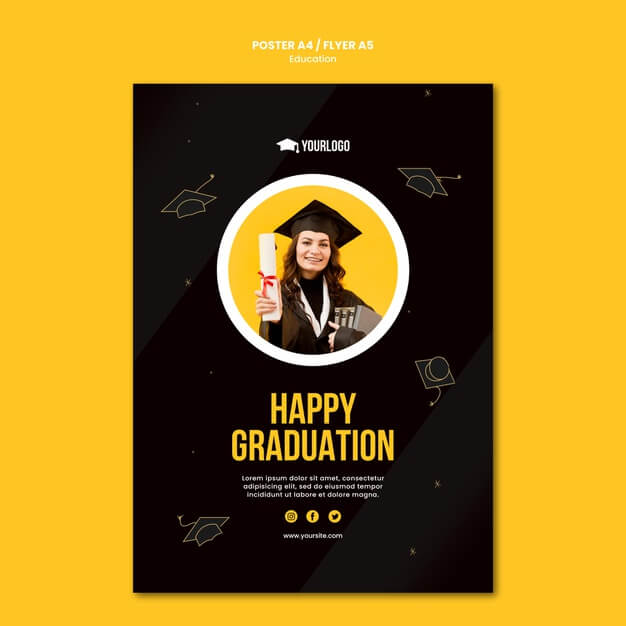 Education concept poster template Free Psd (1)