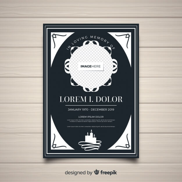 Elegant funeral flyer template Free Vector (1)