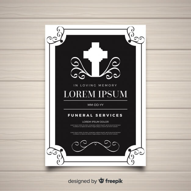 Elegant funeral flyer template Free Vector (2)