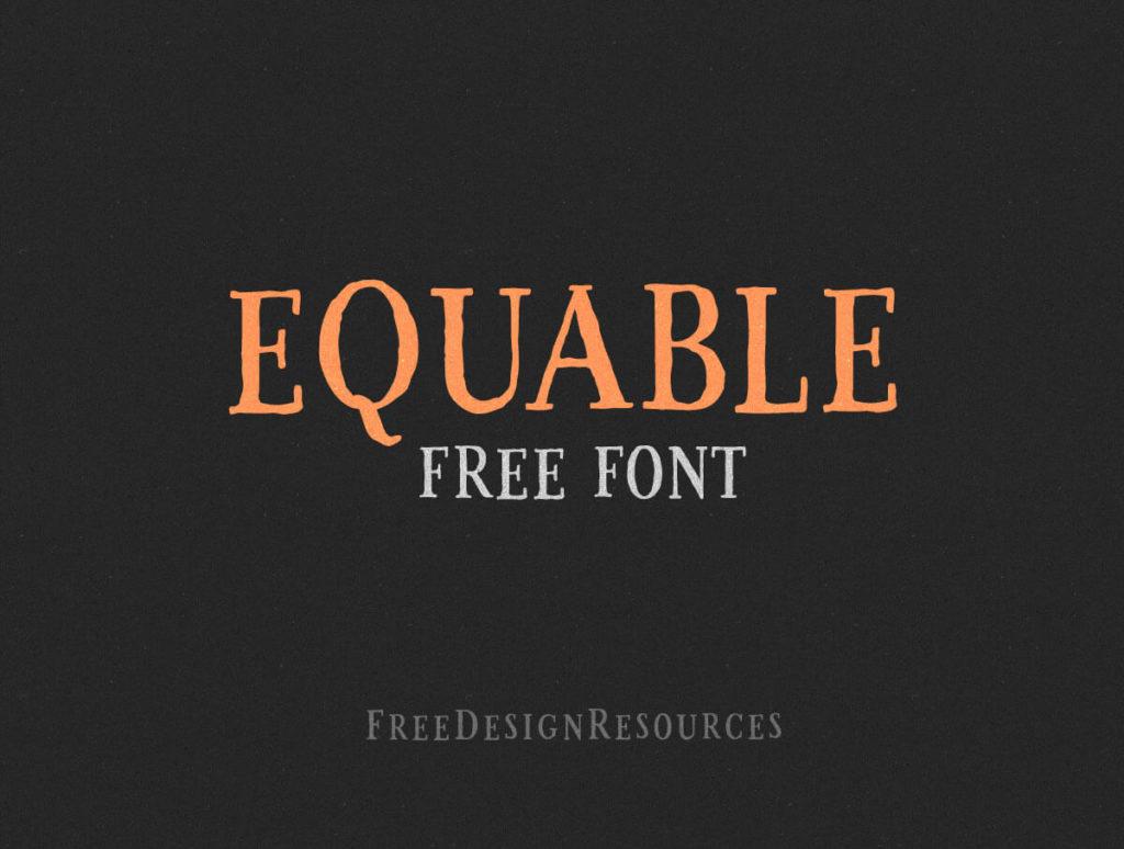 Equable Free Retro Font 1