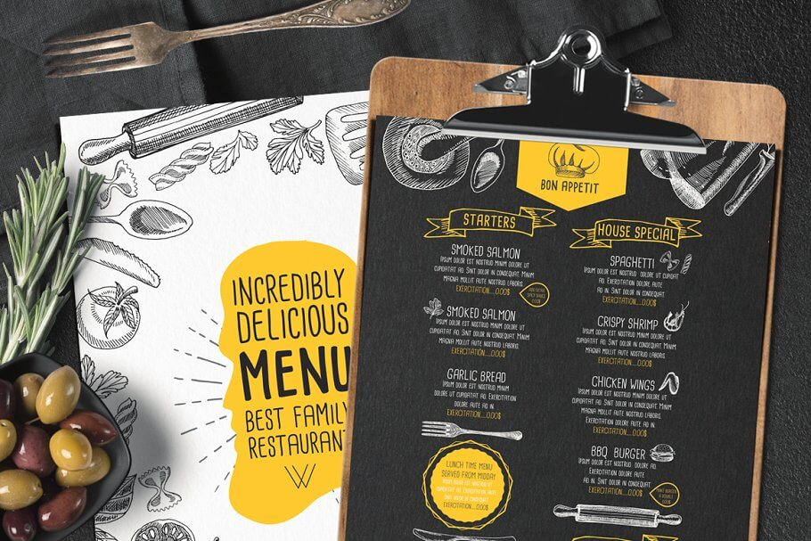 FREE! Trifold + Food Menu Brochure (1)