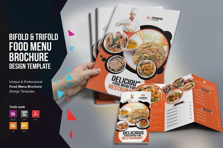 Food Menu Trifold Bifold Brochure (1)