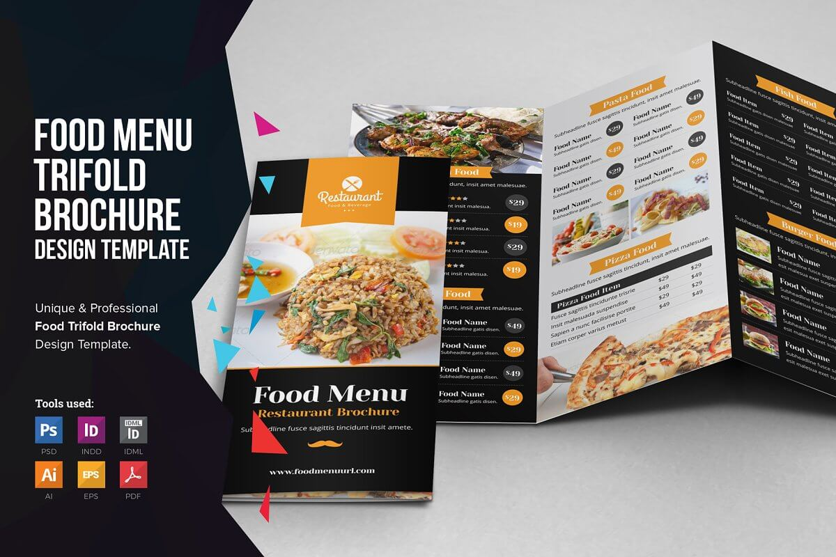Food Menu Trifold Brochure v1 (1)