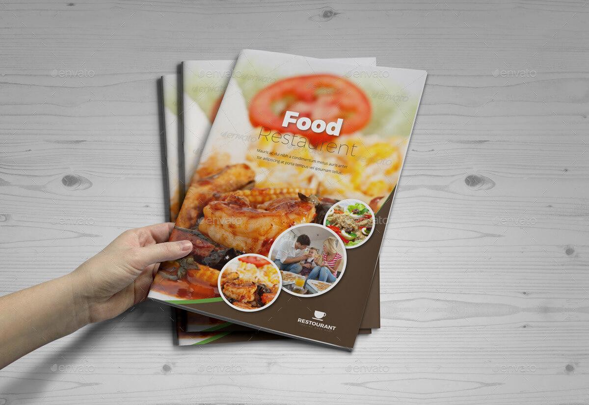 Food Restaurant Bifold Brochure InDesign Template (1)
