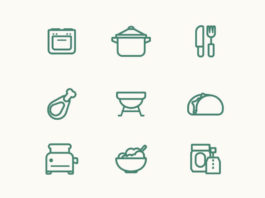 Free Food Vector Line Icon Set